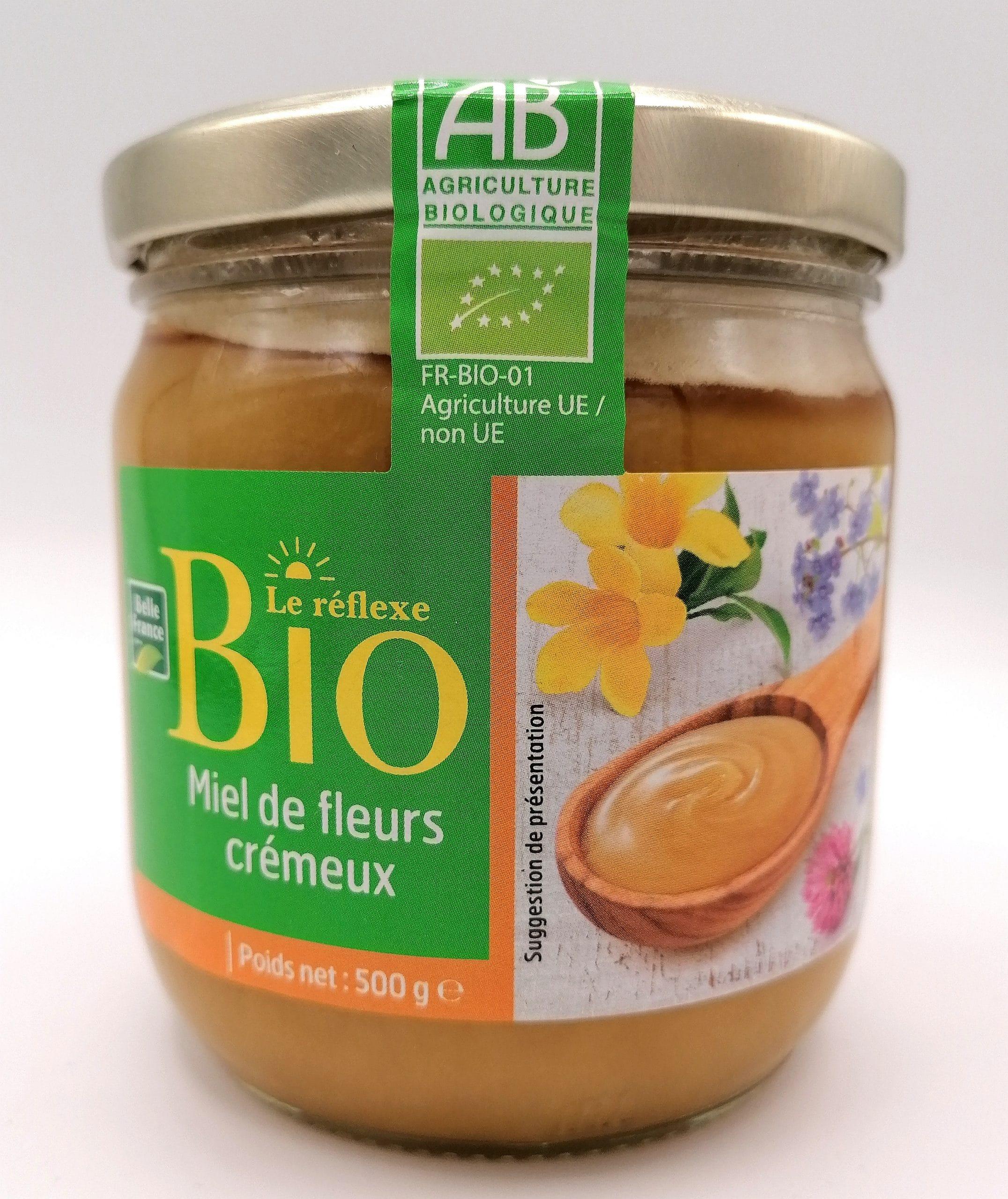 Miel de fleurs crémeux BIO, 500g